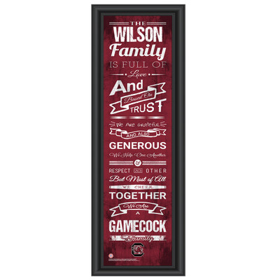 South Carolina Gamecocks Personalized Family Cheer Print