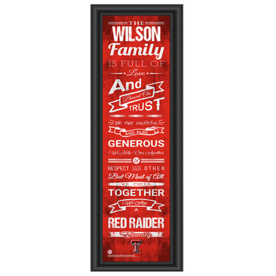 Texas Tech Red Raiders Personalized Family Cheer Print
