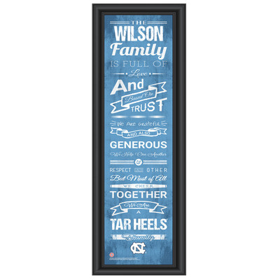 UNC Tar Heels Personalized Family Cheer Print | Get Letter Art | NCARFAM