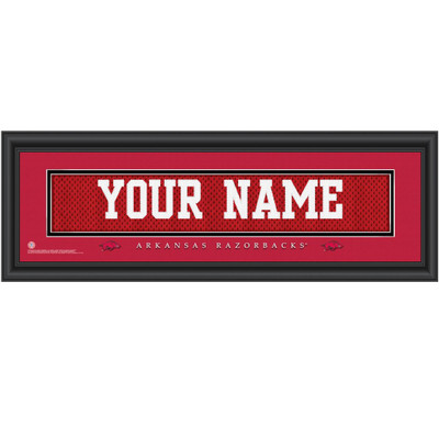 Arkansas Razorbacks Personalized Jersey Stitch Print