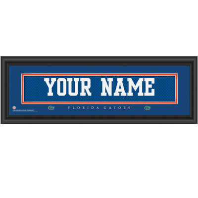 Florida Gators Personalized Jersey Stitch Print