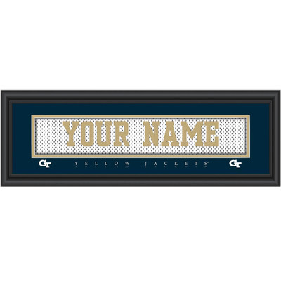 Georgia Tech Yellow Jackets Personalized Jersey Stitch Print