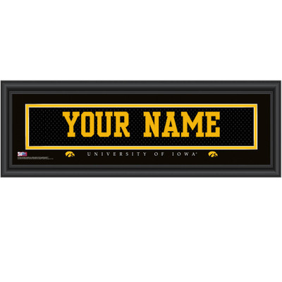Iowa Hawkeyes Personalized Jersey Stitch Print