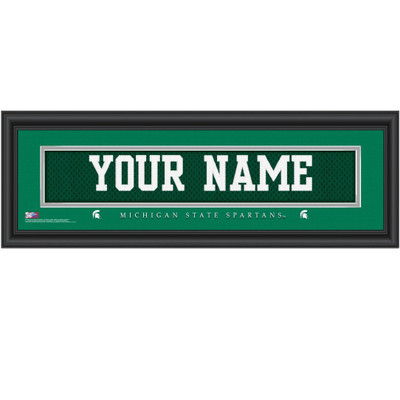 Michigan State Spartans Personalized Jersey Stitch Print