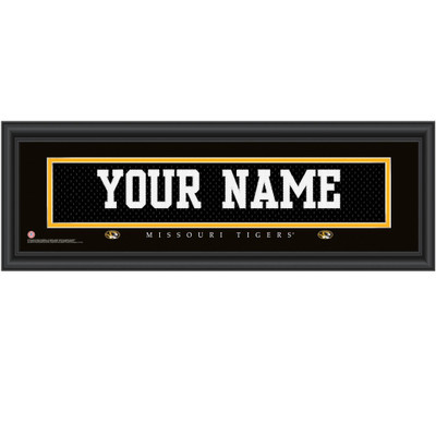 Missouri Tigers Personalized Jersey Stitch Print