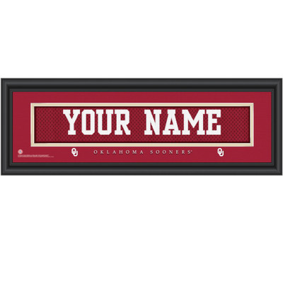 Oklahoma Sooners Personalized Jersey Stitch Print