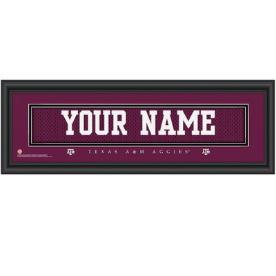 Texas A&M Aggies Personalized Jersey Stitch Print