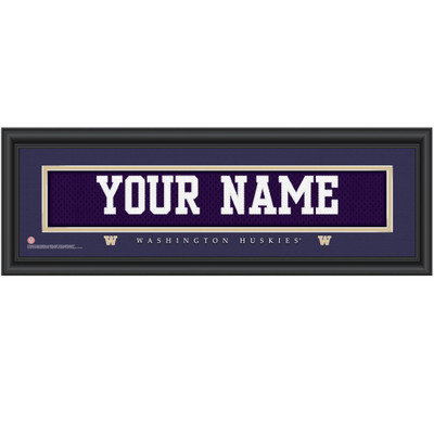 Washington Huskies Personalized Jersey Stitch Print
