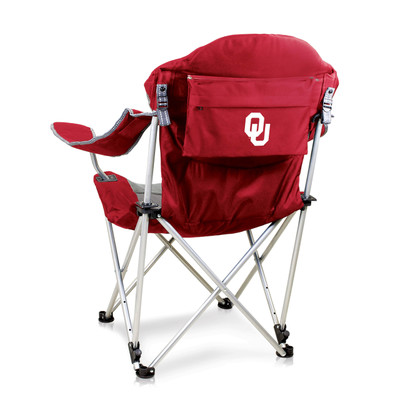 Oklahoma Sooners Reclining Camp Chair | Picnic Time | 803-00-100-454-0