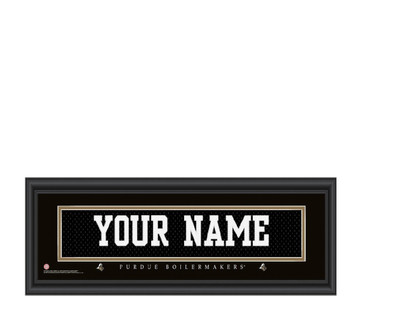 Purdue Boilermakers Personalized Jersey Stitch Print