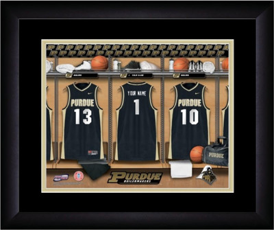 Purdue Boilermakers Personalized Basketball Locker Room Print