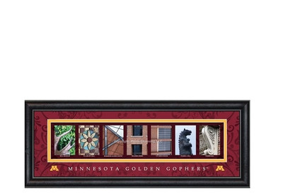 Minnesota Golden Gophers Campus Campus Letter Art Print