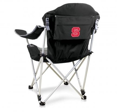NC State Wolfpack Reclining Camp Chair - Black