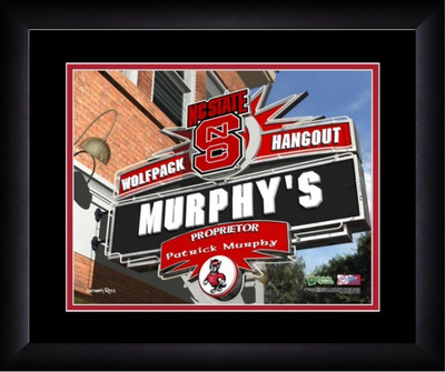 NC State Wolfpack Personalized Pub Print