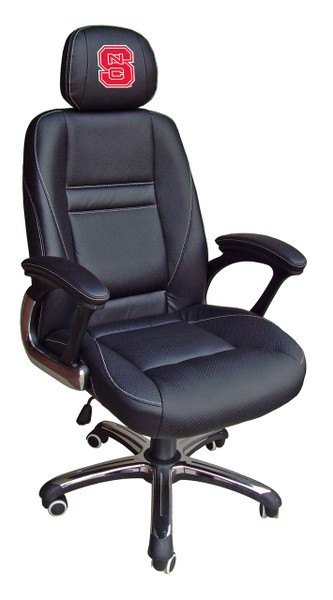 NC State Wolfpack Leather Office Chair