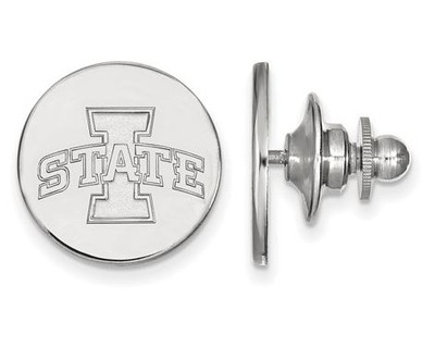 Iowa State University Logo Sterling Silver Lapel Pin