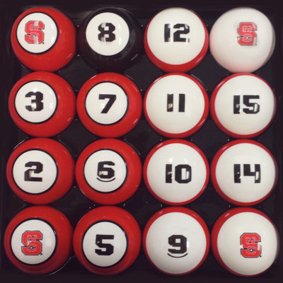 NC State Wolfpack Billiard Pool Ball Set