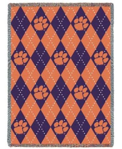 Clemson Tigers Paw Stadium Blanket