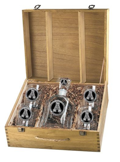 Appalachian State Mountaineers Decanter Boxed Set