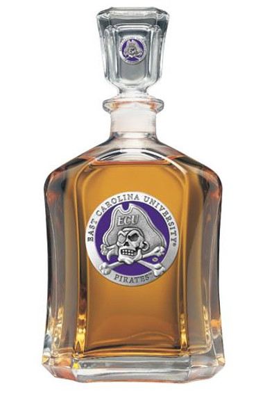 East Carolina Pirates Capitol Decanter