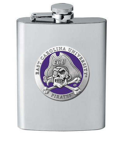 East Carolina Pirates Flask