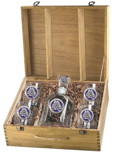 East Carolina Pirates Decanter Boxed Set