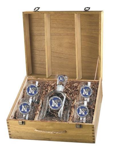 Memphis Tigers Decanter Boxed Set