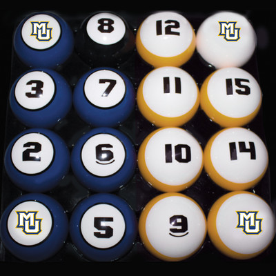 Marquette Golden Eagles Billiard Pool Ball Set