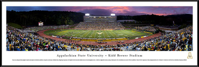Appalachian State Mountaineers Standard Frame Panoramic Photo - Twilight