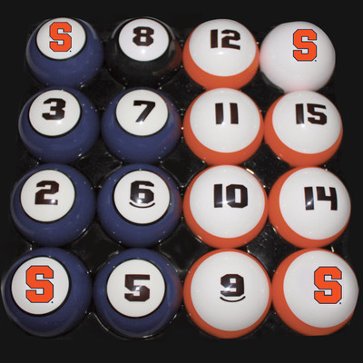 Syracuse Orange Billiard Pool Ball Set
