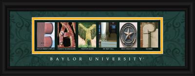 Baylor Bears Campus Letter Art Print