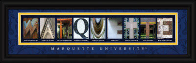 Marquette Golden Eagles Campus Letter Art Print