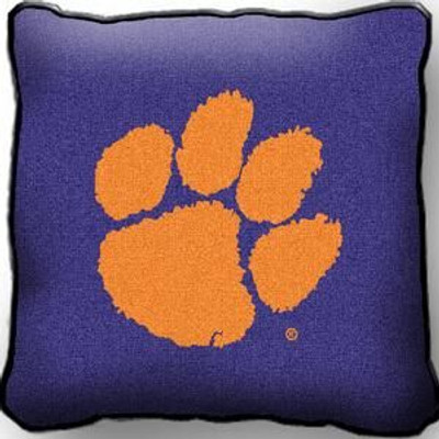 Clemson Tigers Paw Throw Pillow
