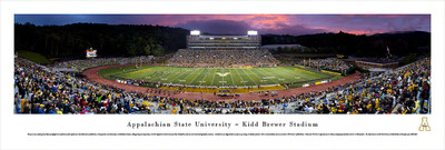 Appalachian State Mountaineers Panoramic Photo Print - Twilight