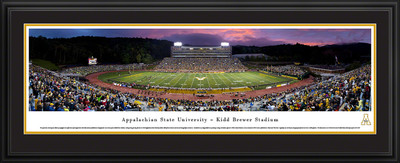 Appalachian State Mountaineers Panoramic Photo Deluxe Matted Frame - Twilight