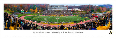 Appalachian State Mountaineers Panoramic Photo Print - 50 Yard Line