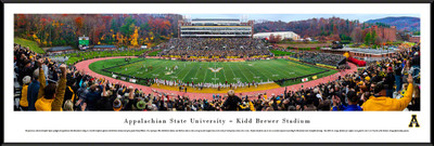 Appalachian State Mountaineers Standard Frame Panoramic Photo - 50 Yard Line