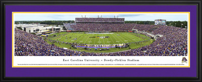 East Carolina Pirates Panoramic Photo Deluxe Matted Frame