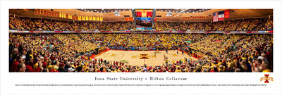 Iowa State Cyclones Panoramic Photo Print - Basketball