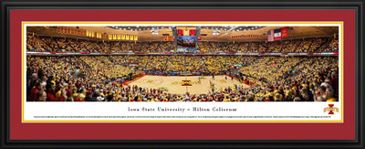 Iowa State Cyclones Panoramic Photo Deluxe Matted Frame - Basketball