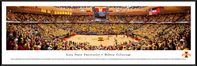 Iowa State Cyclones Standard Frame Panoramic Photo - Basketball