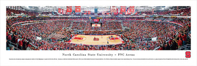 NC State Wolfpack Panoramic Photo Print - Basketball