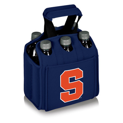 Syracuse Orange 6-Pack Cooler Caddy Tote - Navy | Picnic Time | 608-00-138-544-0