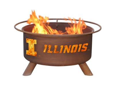 Illinois Fighting Illini Portable Fire Pit Grill