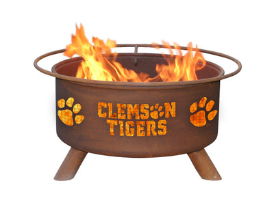Clemson Tigers Portable Fire Pit Grill