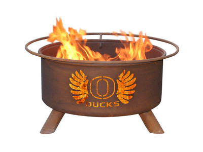 Oregon Ducks Portable Fire Pit Grill