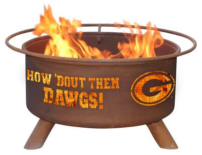 Georgia Bulldogs Portable Fire Pit Grill