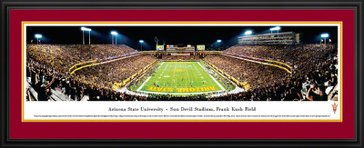 Arizona State Sun Devils Panoramic Photo Deluxe Matted Frame - End Zone