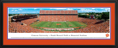 Clemson Tigers Panoramic Photo Deluxe Matted Frame - 50 Yard Line