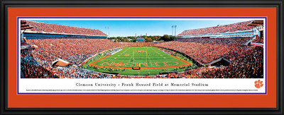 Clemson Tigers Panoramic Photo Deluxe Matted Frame - End Zone